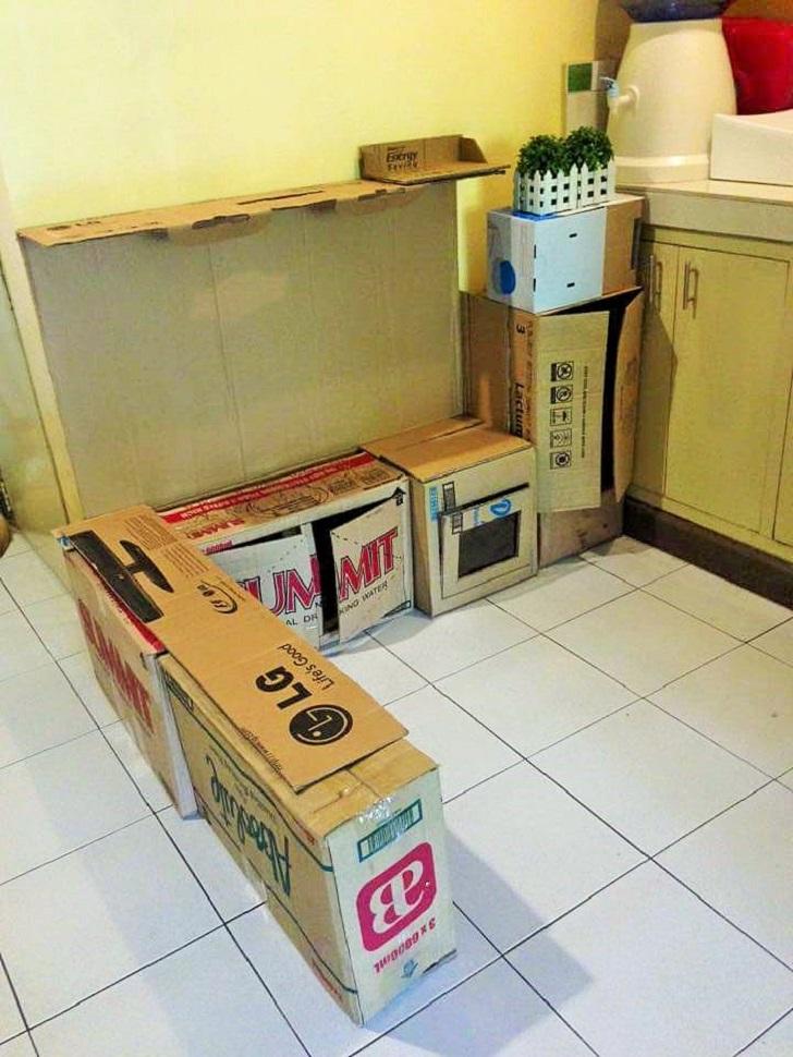 Memasak Di Dapur - Anak Memasak Permainan : memasak, dapur, permainan, Cara-Cara, Sendiri, Dapur, Permainan, Anaknya, Kotak, Kadbod, Terpakai