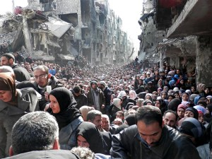 refugee camp in Damascus 1/2014 UNRWA released