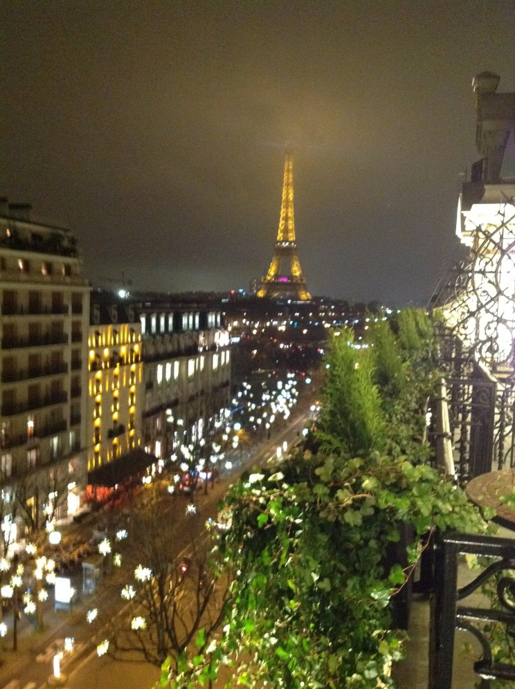 The Eiffel Tower from my balcony @The Plaza Athenee