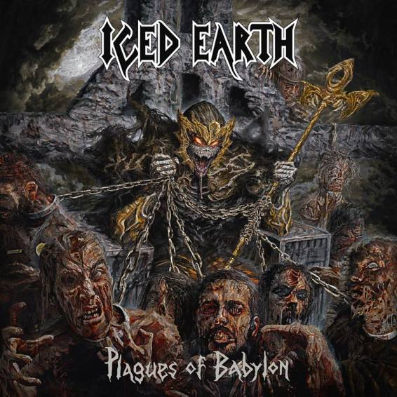 "Iced Earth's ""Plagues of Babylon."" Artwork by Eliran Kantor"