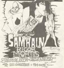 Original show flyer, 1986