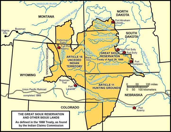 1868 Fort Laramie Treaty Territory