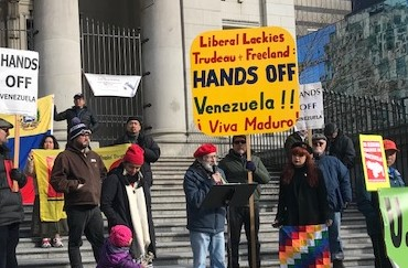 190212 PAGLICCIA – Nino speaking at hands off Venezuela rally_PIC DIEWERT
