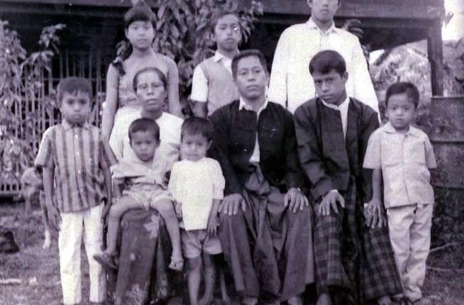 Kyaw and his family members
