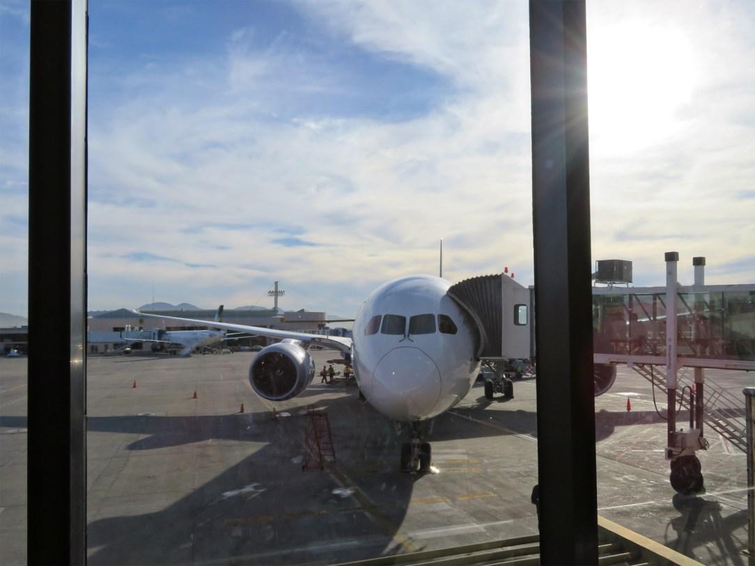 Waiting to board at TIJ