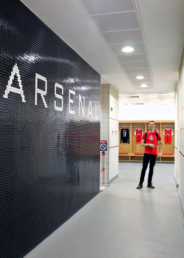 Locker room: Visiting Emirates Stadium
