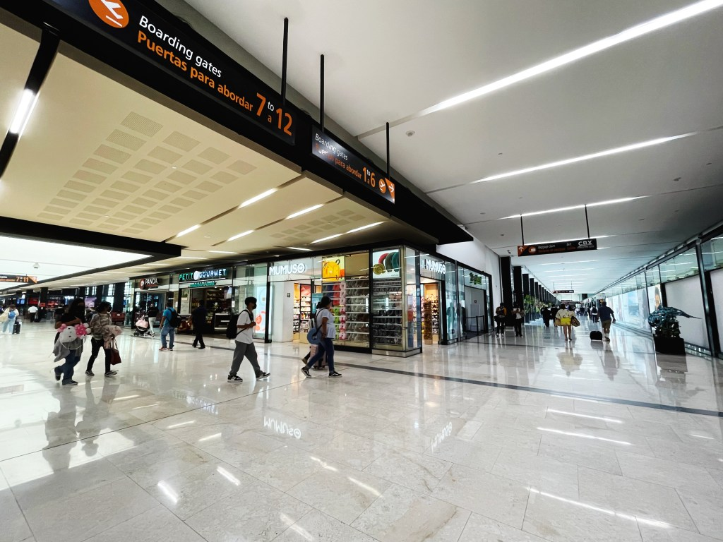 Interior of the Tijuana Airport after passing through CBX 2021