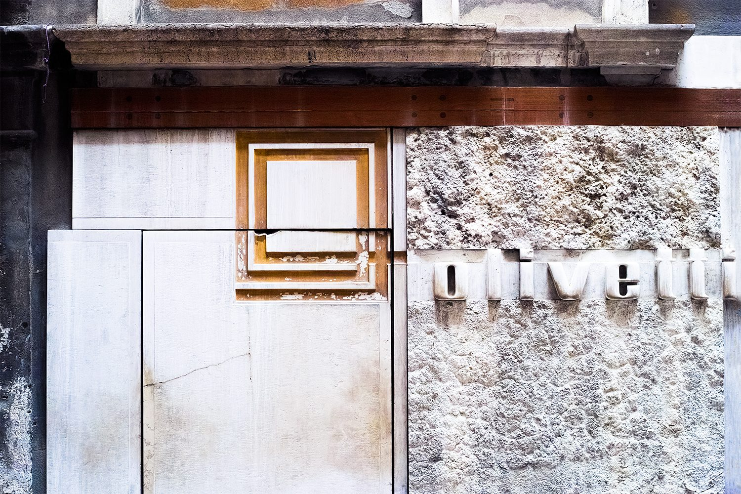 The place  Olivetti showroom by Carlo Scarpa Venice