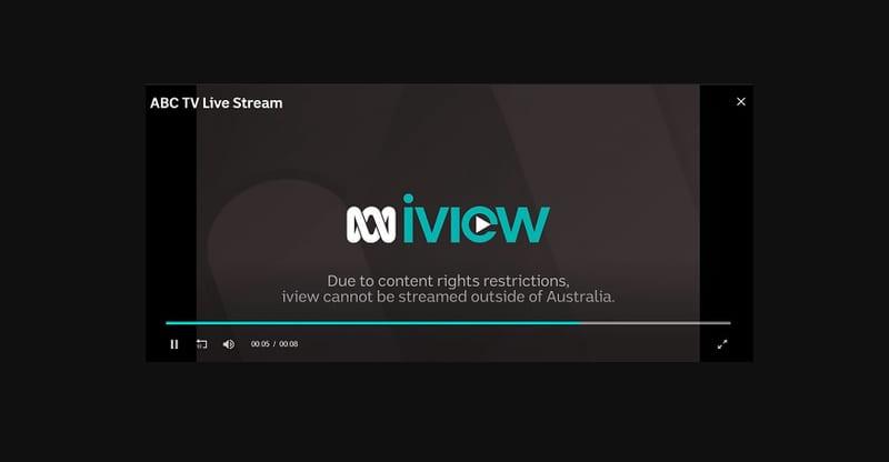 ABC iVIEW Error 2