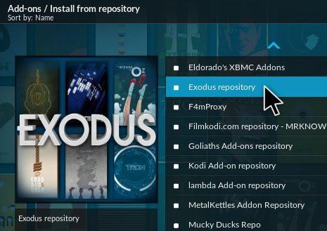 kodi with exodus addon
