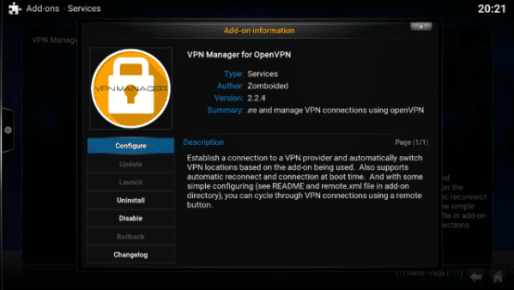 Click Configure VPN