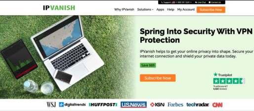 IPVanish HomePage