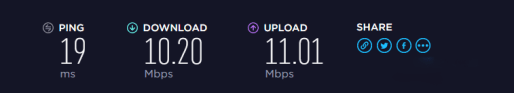 IPVanish Speed Test 1