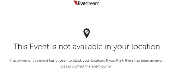Livestream.com/NRL Geoblocked in Australia
