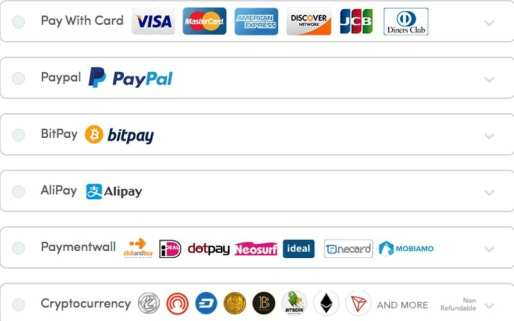 Payment Methods Ivacy