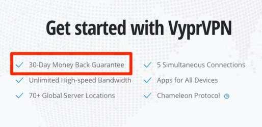 Money-Back Guarantee VyprVPN