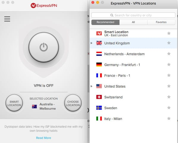 Choose your Preferred VPN Location