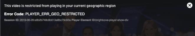 TenPlay Error