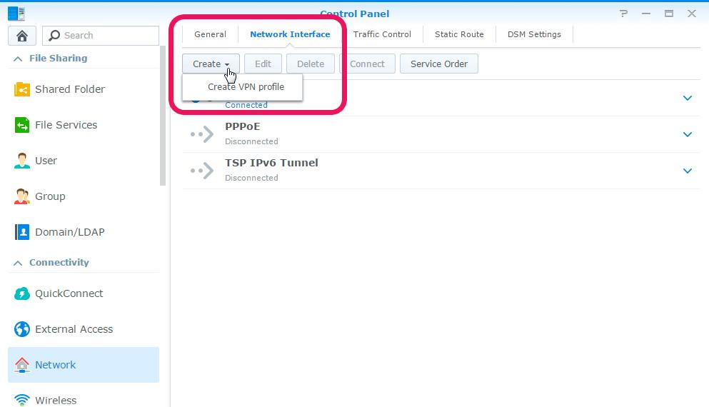 Create New VPN Profile