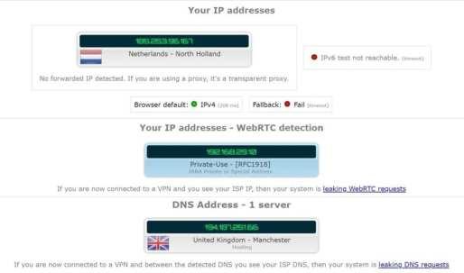 DNS Leak CyberGhost