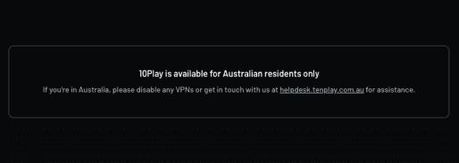 TenPlay Error Message