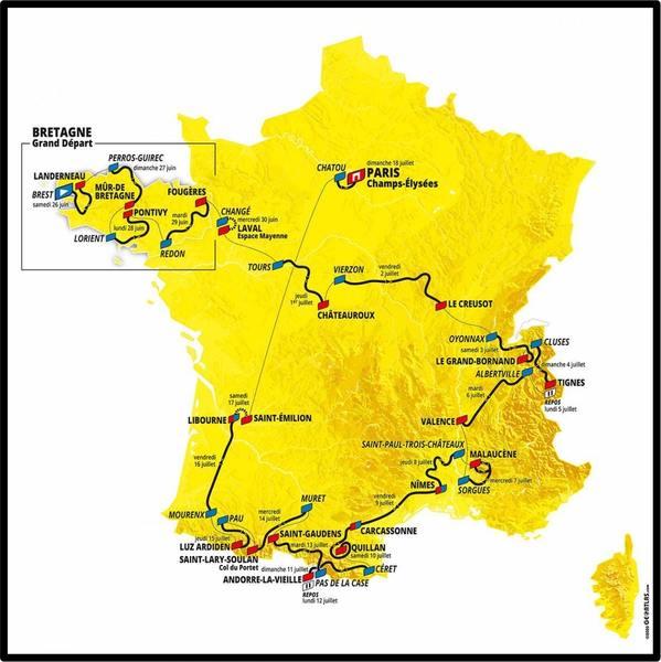 Tour De France 2021 Map