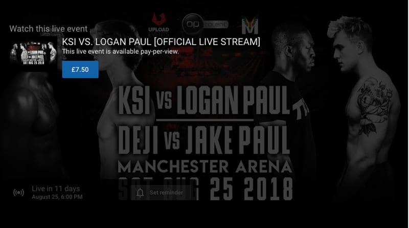 KSI vs Logan Paul PPV