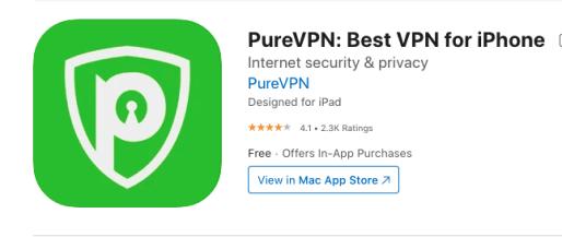 PureVPN Apple Store