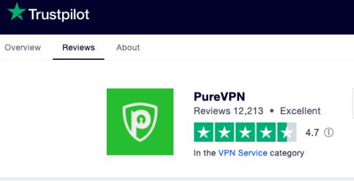 PureVPN Trustpilot