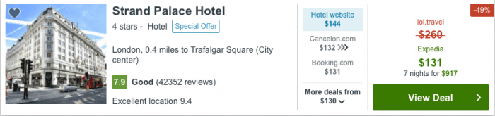 Hotel Reservation from Los Angeles