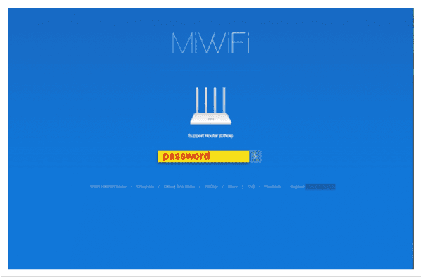 Xiaomi Mi Control Panel - Password