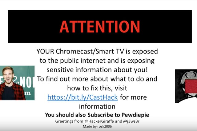 CastHack - Latest #PewDiePie Hack Exposes Chromecast and Router bug