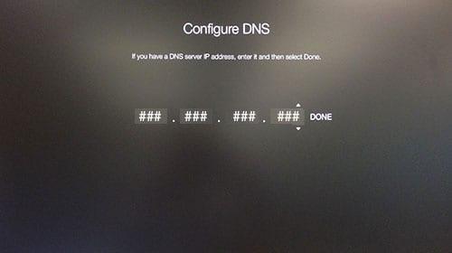 Enter DNS