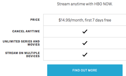 HBO Now Subscription