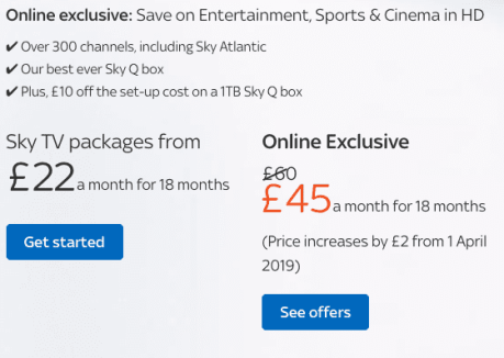 Sky TV Subscription