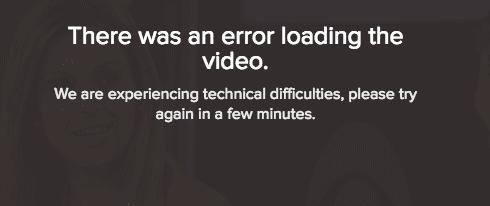 CBS Sports Error