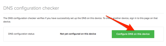 Configure DNS on Device