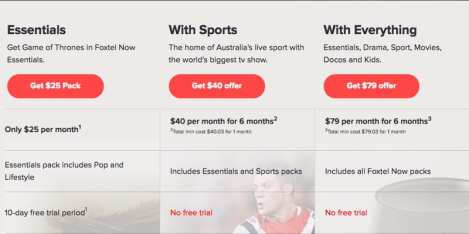 Foxtel Now Subscription