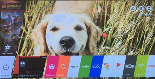 LG Smart TV Home Screen