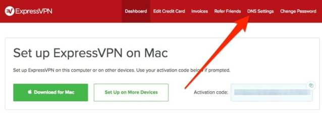 Press DNS Settings