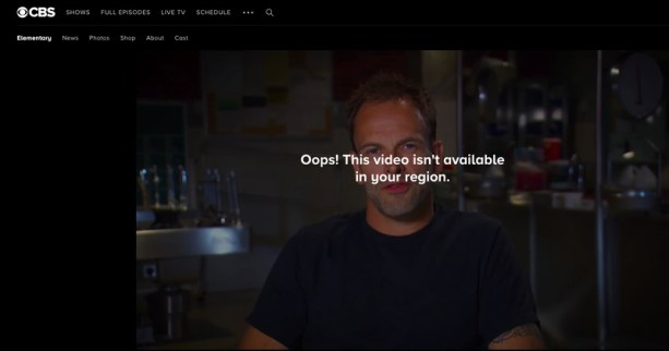 CBS Elementary Error
