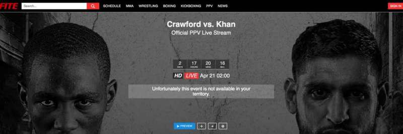 Crawford vs. Khan Error