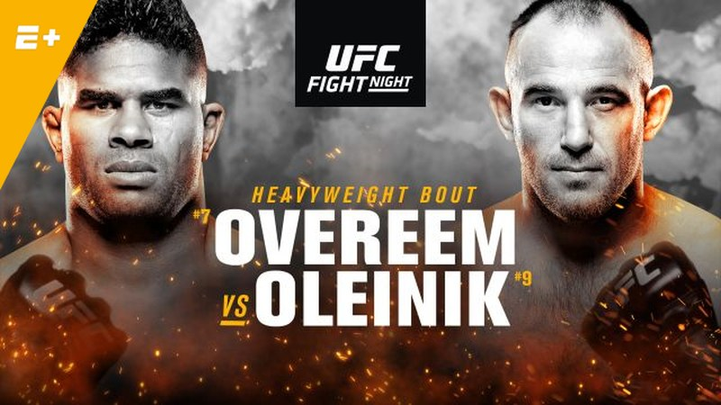 Watch UFC Fight Night 149 Overeem Vs Oleinnik 4/20/19