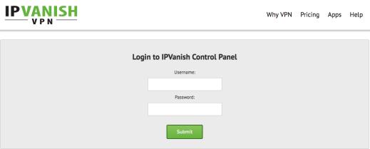 IPVanish Sign in