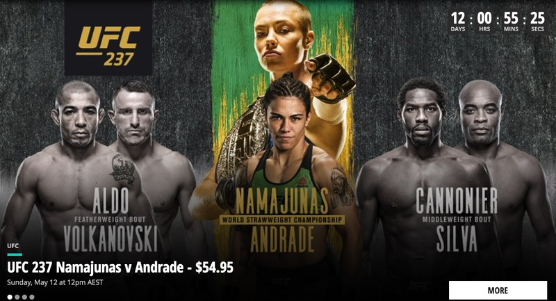 Main Event UFC 237