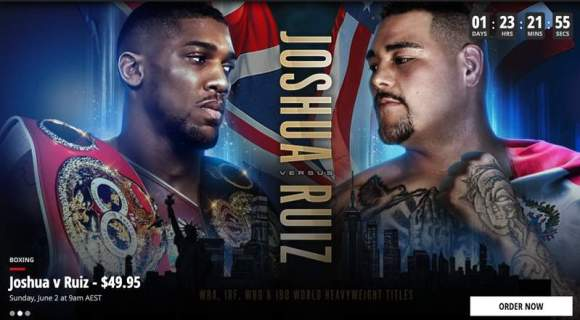 Joshua vs. Ruiz Live in Australia