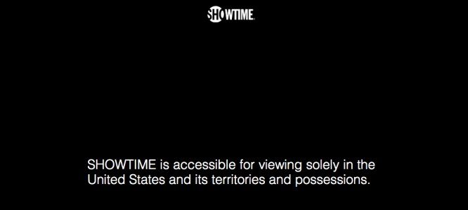 Showtime error