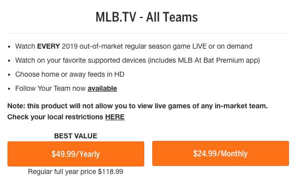 MLB Subscription
