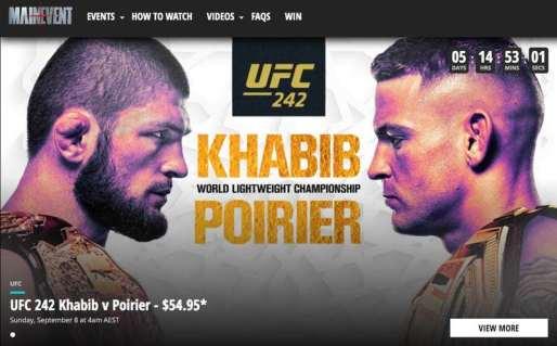 UFC 242 in Australia