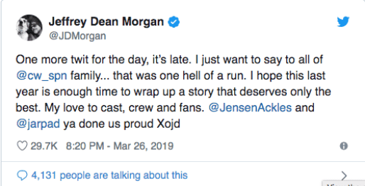 Jeffrey Dean Morgan Tweet